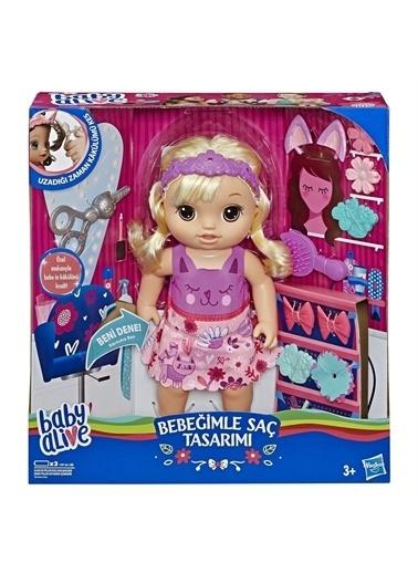 Hasbro Hasbro E5241 Baby Alive Bebeğimle Saç Tamı Oyuncak Seti Renkli